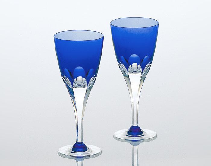 ロイヤルブルー ペアワイングラス